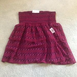Brand new old navy ruffle skirt
